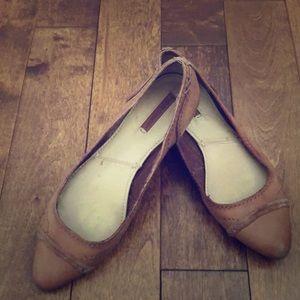 Frye Ballet Flats Size 8 Cognac